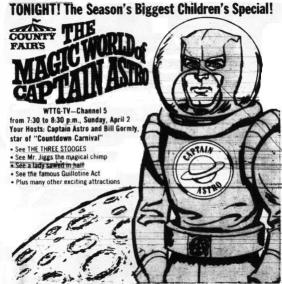 Ad For Captain Astro, 4/2/1967