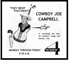 Ad for Cowboy Joe Show, Washington Post, 6/16/54