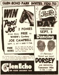 "Glen Echo ""Pepsi Joe"" Ad in Post, 9.2.54"