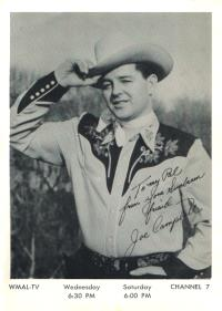 Cowboy Joe Campbell at WMAL-TV, 1953 (Photo ©2004, Estate of Joseph Pendleton Campbell. All rights reserved.)