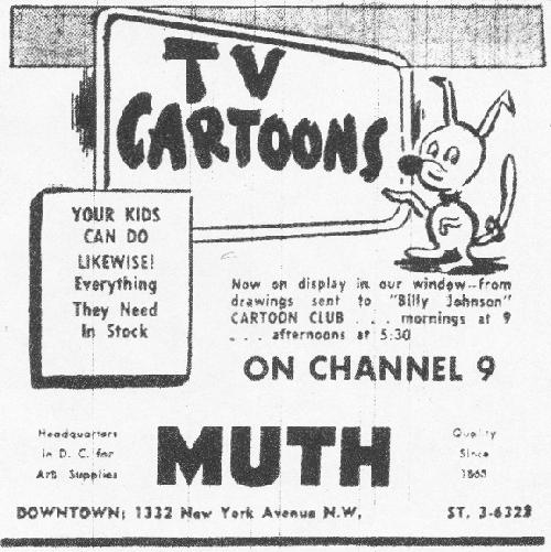Muth Art Supplies Ad, POST, 7/5/1953