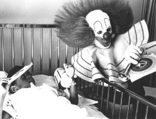 Tony Alexi as Bozo the Clown visits a hospital