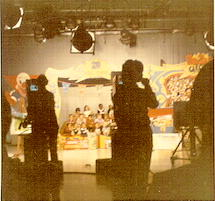 Behind the scenes at Bozo's Circus (Donated by Skip McCloskey)