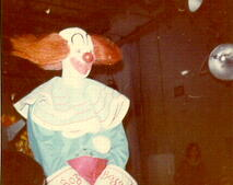 Bozo speaks with parents in the audience during a break. (Donated by Skip McCloskey)