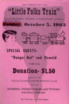Tickets For Train Ride With Ranger Hal & Ozzie (Donated by Jack Maier)
