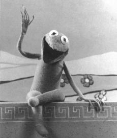 Kermit (During the *Sam and Friends*  years) - From *Jim Henson - The Works* (Donated by Jack Maier)