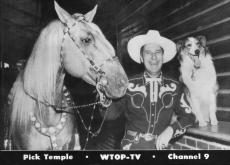 Pick Temple Publicity Card For WTOP-TV 9 (Donnated by Shirley Menefee)
