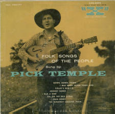 Folk Songs of the People album by Pick Temple (Front)