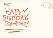 Pick Temple and Lady Birthday Greeting (Back) Donated By Jack Maier