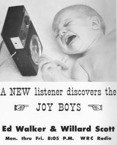 Joy Boys Ad in the 1963 AFTRA Directory (Donated by Skip McCloskey)