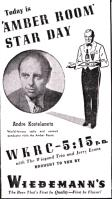 WKRC Radio's Amber Room show was sponsored by Wiedemann's Beer (Provided By Billy Johnson. All rights reserved.)