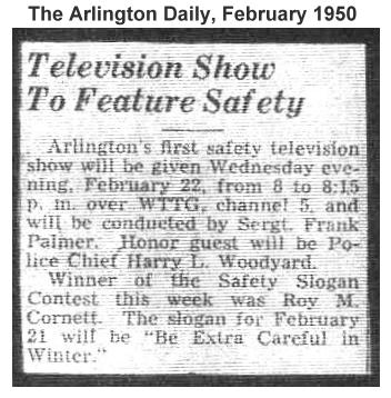 The Arlington Daily, February 1950 (From the family archives of Helen A. Palmer)