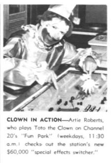 Artie Roberts as Toto the Clown in Fun Park