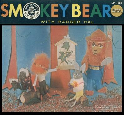 Smokey Bear with Ranger Hal LP Recording (Courtesy: Jack Maier)