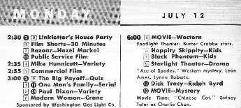 TV Guide Listing (Right Cloumn) For Hoppity Skippity (Donated By Ralph Bull)