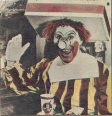 Willard Scott as Ronald McDonald (from an article in Parade Magazine)